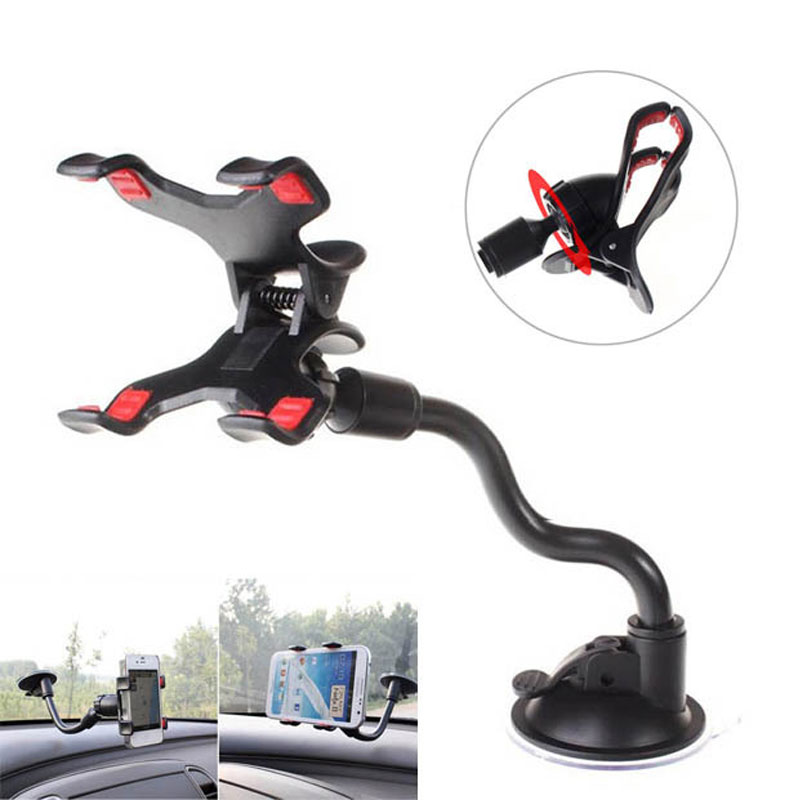 Universal Cars Windshield Long Arm Mobile Phone Car Mount Bracket Holder Stand for iPhone 4 4S