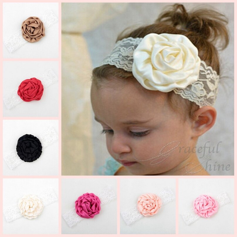 Headband Baby Haarband Kids Hair Accessories Baby Girl Headbands Ribbon Rose Flower Headband