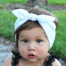 1 X Baby Kids Girls Cotton Headband Knot Tie Headband Headwrap Hair Band Vintage Head Wrap Bandana Hair Accessories