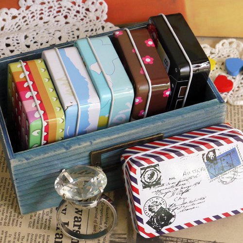 Cardfile Series Small Tin Reminisced Cigarette Case Card Storage Box Cartridge Candy Chololate Business Card Box Free Shipping(China (Mainland))