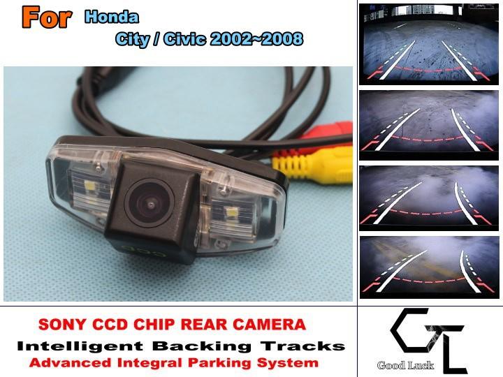imports HD CCD Backing Tracks Chip Camera For Honda City / Civic 2002~2008 Rear View Parking  Japan  Night Vision<br>