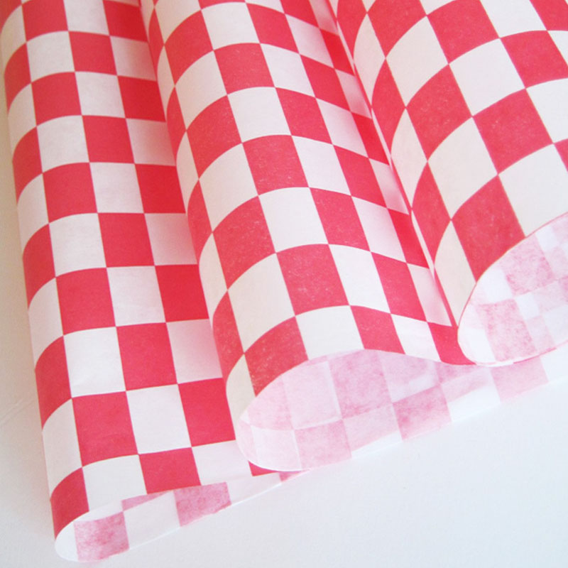 red checked wax paper