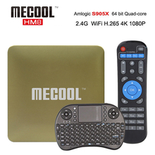 Buy MECOOL HM8 Android 6.0 4K Smart TV Box Amlogic S905X Quad Core DDR3 1GB 8GB 2.4G WiFi Smart MINI PC media player set top box for $26.52 in AliExpress store