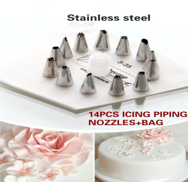 Caraselle Cake Decorating Set With 5 Nozzles And Piping Bag : Aliexpress.com : Buy Cake Cookie Decorate Kit Icing Piping ...