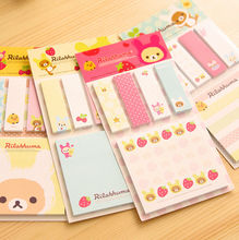 Kawaii Rilakkuma Planner Sticker School Supplies Stationery Sticky Notes Memo Pad Notepad Post it Papelaria Filofax Papel(China (Mainland))