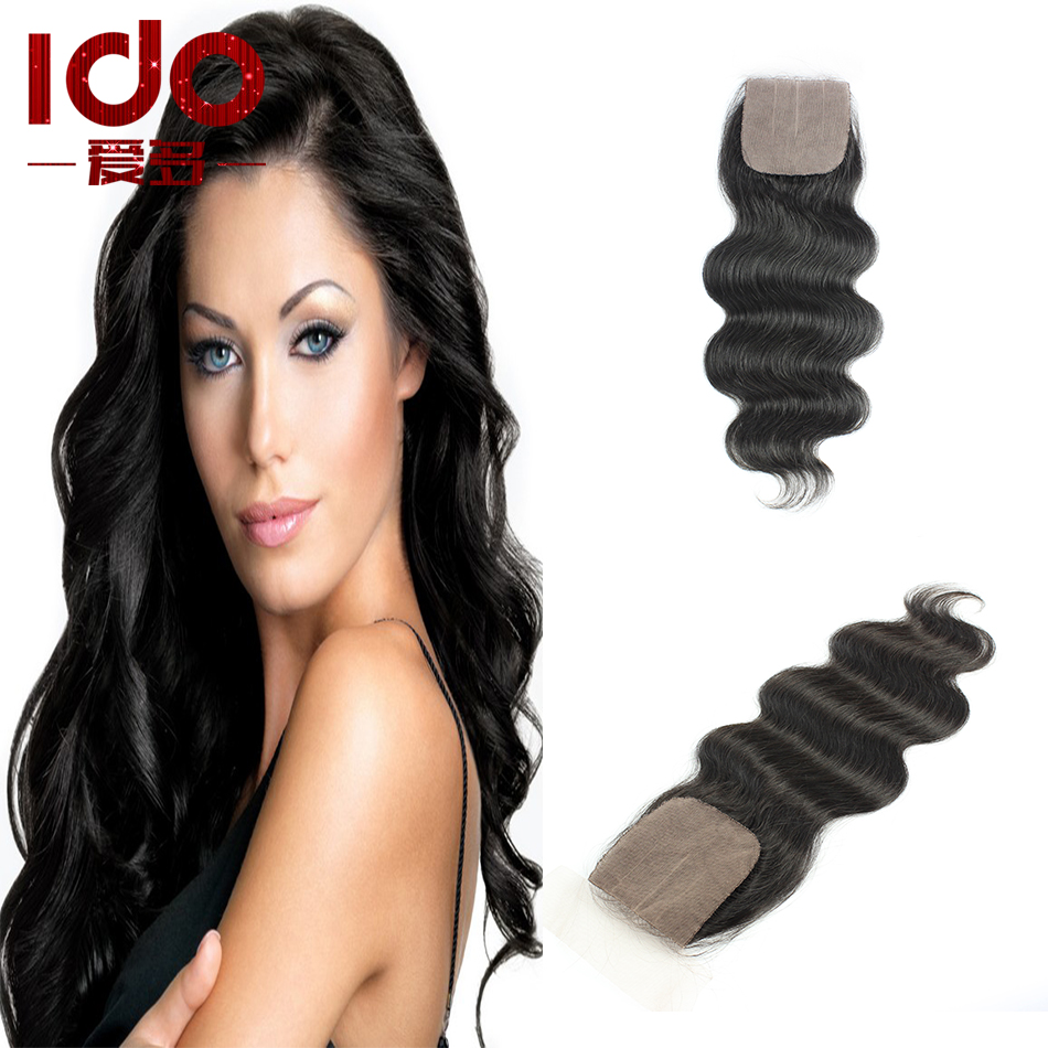 Здесь можно купить  Body Wave Silk Base Closure Free/Middle/3 Part Unprocessed Human Hair Silk Top Closure Cheap 7A Brazilian Virgin Hair Closure  Волосы и аксессуары