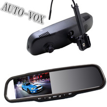 "Built-in DVR 4.3"" HD LCD Car Rearview Mirror Monitor With Night Vision 1080P 170 Degree View Angle Dash Cam Car Camera(China (Mainland))"