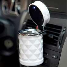 Luxury Car Accessories Portable LED Car Ashtray High Quality Universal Cigarette Cylinder Holder Car Styling Mini carro cinzeiro(China (Mainland))
