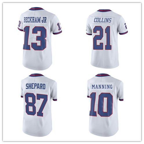 Men's #13 Odell Jr Adult embroidery Logos #10 Eli Manning 21 Landon Collins 87 Sterling Shepar Rush Limited Free Shipping(China (Mainland))