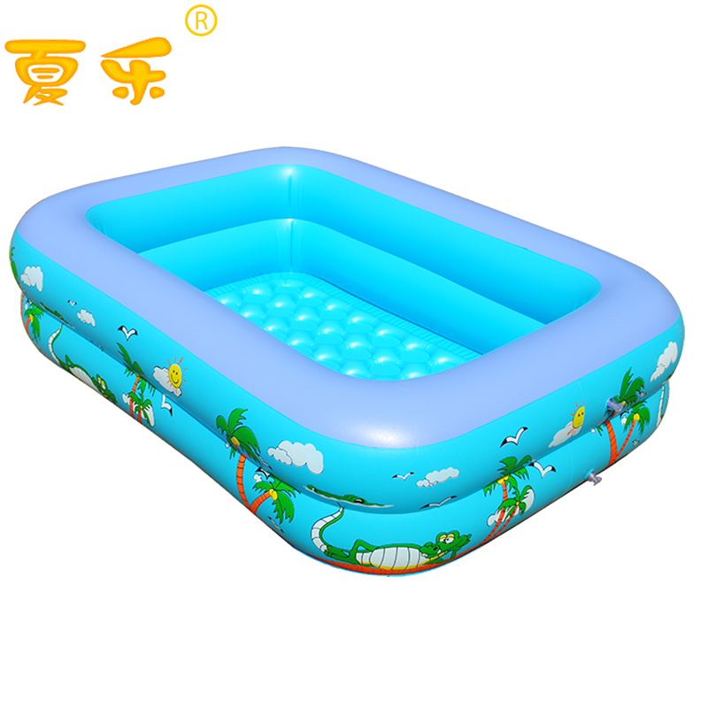 Imported material baby infant children's pool inflatable paddling pool rectangular family moved ocean ball pool(China (Mainland))