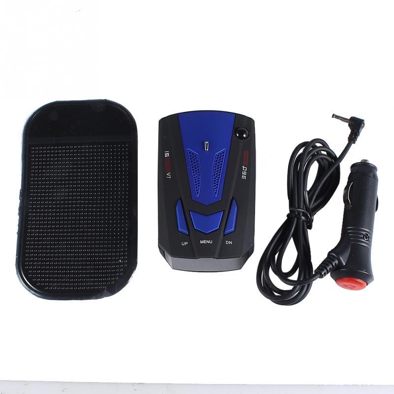 [해외]V7 슈퍼 슬림 블루 & A; 블랙 차량용 GPS 레이더 탐지..