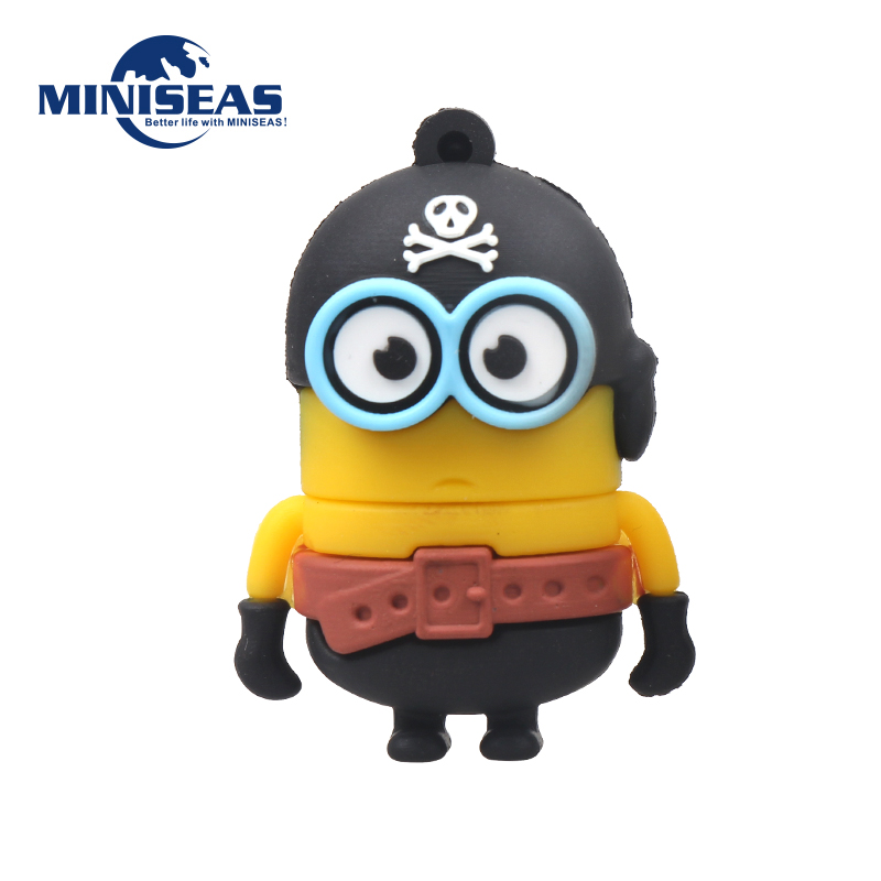 Miniseas 2016 With H2textw Software Pirates soldiers Minions 8G/16G/32G/64G 2.0 Memory Stick Pen Drive Pendrive Usb Flash Drive(China (Mainland))