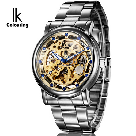 Selling IK path of gemany full hollow-out automatic mechanical watch alloy set auger mens watch The disc mens watch 98228 g<br><br>Aliexpress