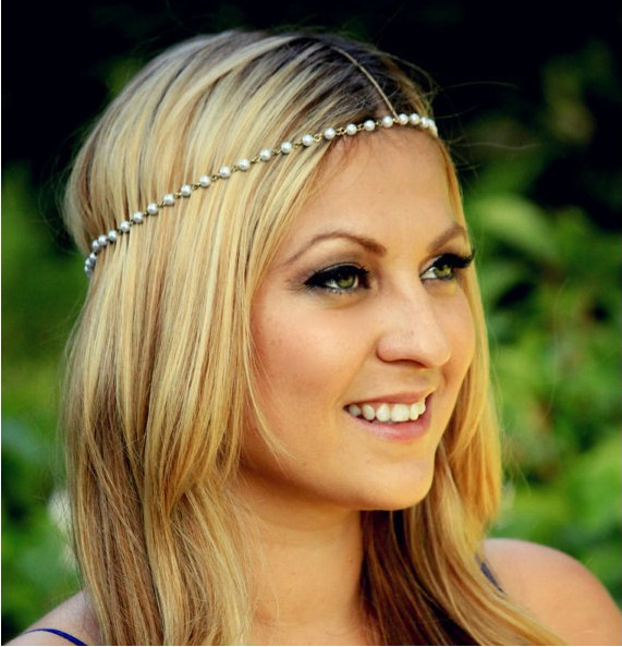 2015 Fashion Pearl bridal hair accessories Women wedding headband hair jewelry acessories para cabelo tiara CF095(China (Mainland))
