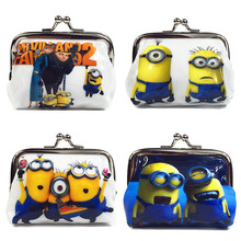 1 Piece Coin Purses Minion Square Hasp PVC Coin Purse Girls Minions Wallet Chilldren Despicable Me 2 Party Supplies