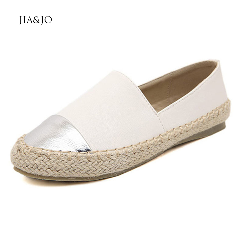 Spring Autumn Women Flat Shoes 2015 Ladies Casual Leather Slip-on Black Loafers Round Toe White Plus Size 35-40 7407 - New Fashion store