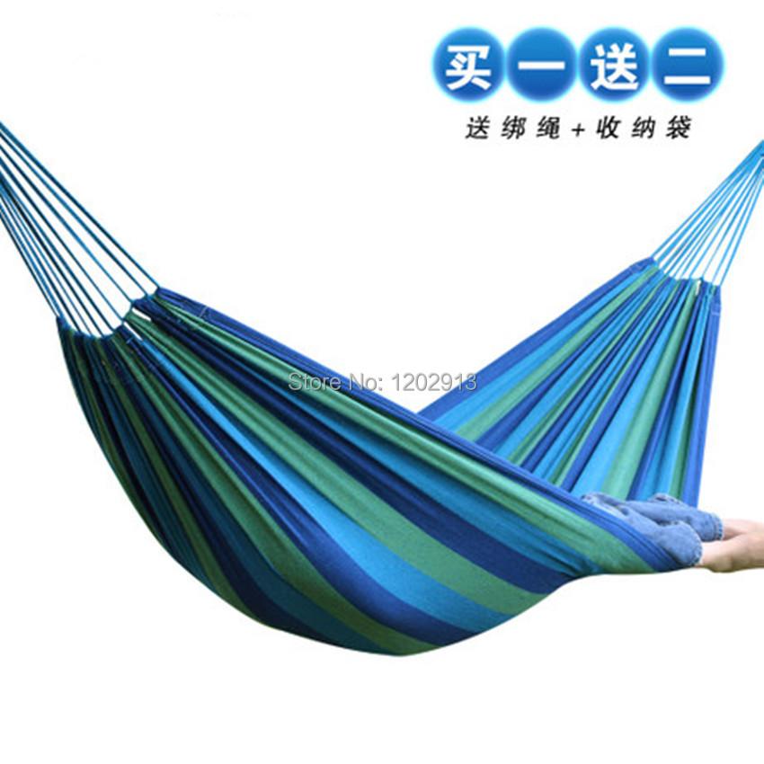 Free shipping Outdoor thickening canvas hammock multicolour camping hammock swing casual cloth bag nonload bearing lashing(China (Mainland))