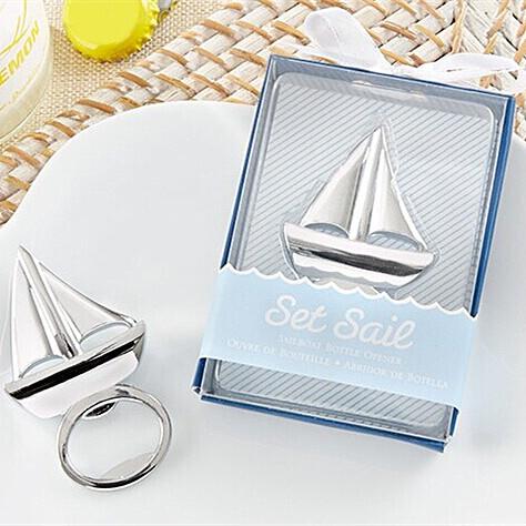 "Free shipping 10 pcs/lot wedding favor/beach favor /wedding wine ""Set Sail"" Sailboat Bottle Opener(China (Mainland))"