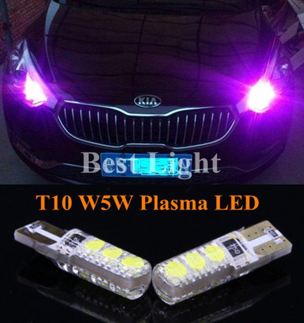 2pcs T10 W5W Plasma LED Side Parking Light Marker Lamps Bulb For Kia Rio K2 Ceed K3 K5 Rio Forte Sportage Cerato Carens Sorento(China (Mainland))