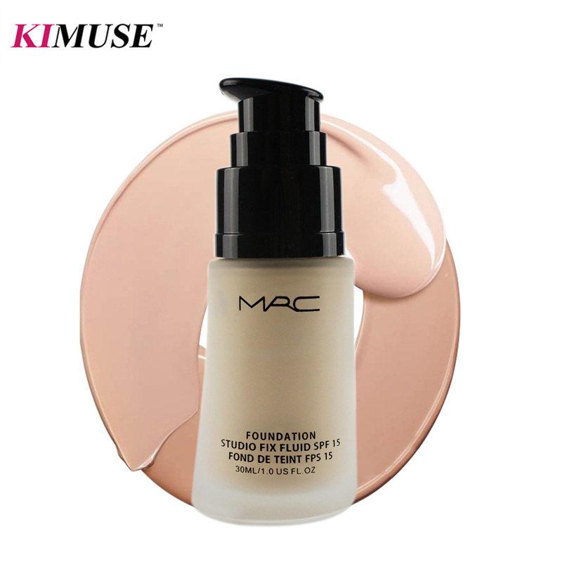 KIMUSE Face Liquid Base Foundation Cream Beverly Hills Studio Fix Fluid SPF15 Brand 30ml Profession Make Up Glow Kit(China (Mainland))