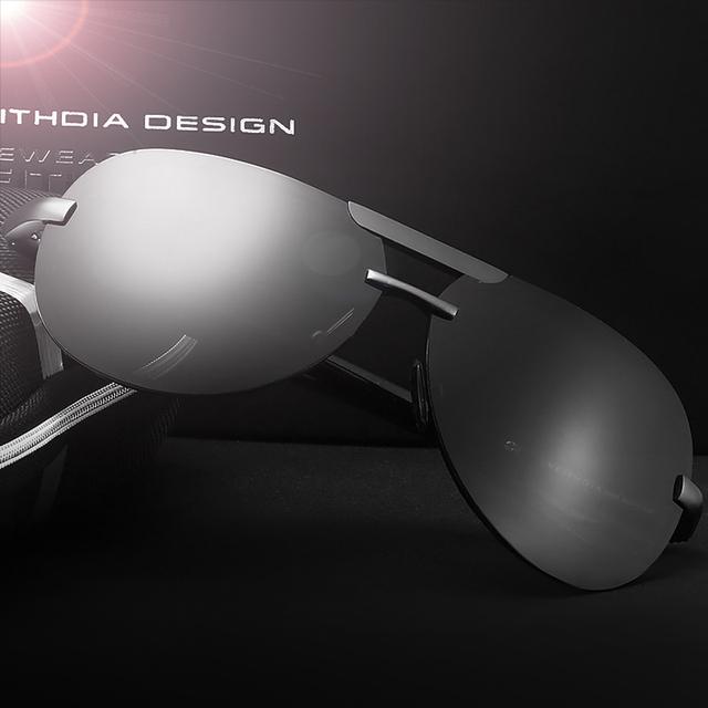 Сплав магния и алюминия, мужские солнцезащитные очки авиатор с поляризованными линзами ...