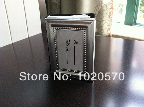 wedding favors of Silver metal frame design photo album Place Card Holders  Mini Photo Frame  100 pcs/lot  Free Shipping