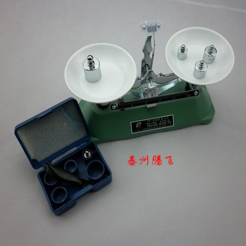 Tray balance 100 grams of middle school physics experiment equipment, chemical and biological research institutes Instruments(China (Mainland))