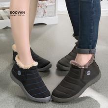 Koovan Botas 2017 Invierno Hombres Calientes de Las Mujeres de Edad, Además de Terciopelo Zapatos impermeables de Algodón Padre Madre Zapatos de Gran Tamaño 48 Nieve botas(China (Mainland))