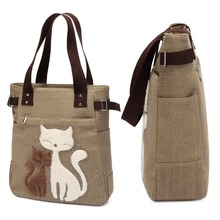 Women's Cute Cats Canvas Tote Bag