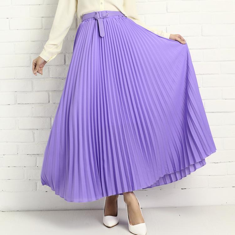 supernova sale purple solid chiffon pleated skirt supernova sale purple solid chiffon pleated skirt black pink maxi skirts blue