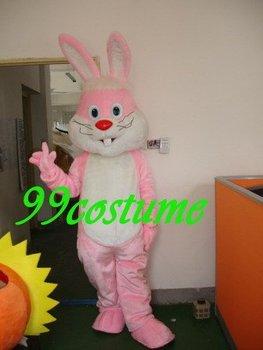 Free Shipping Adult Size Long Hair Rabbit Cartoon Cosplay Mascot Costume Cosplay Christmas Hallowmas Party Dress