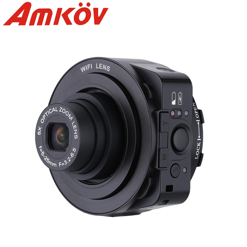 Original AMKOV JQ1 4X digital 5X Optical Zoom Wifi Digital Camera 20MP HD 1080P 30fps Camcorder Mini Selfie Lens-style PC Camera(China (Mainland))