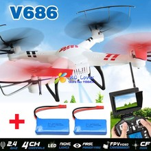 (With two batteries) Original WLtoys V686 V686G (FPV Version) 4CH drone With 2MP HD Camera RTF   MODE 1 and MODE 2 are in stock
