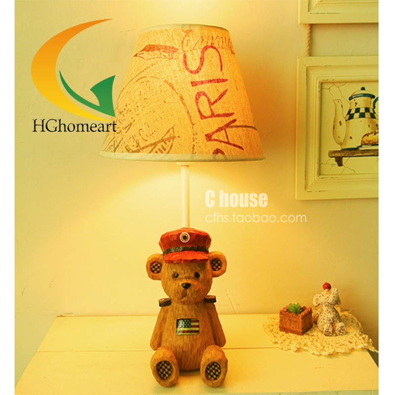 cute bear bedroom table lamp bedside lamp dimmable warm and creative fashion cartoon children cute gift(China (Mainland))