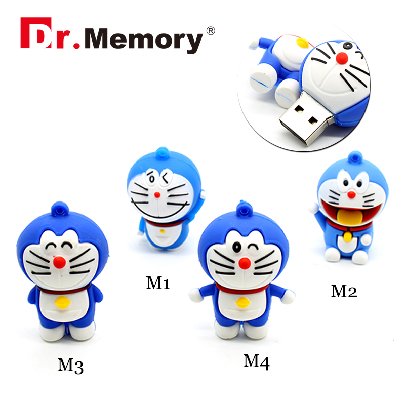Cute Doraemon Pen Usb Drive 4GB 8GB 16GB 32GB Cartoon Style Key Chain Flash Memory Usb 2.0 Disk Children'S Love Pet(China (Mainland))