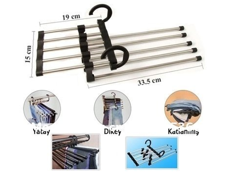 Free DHL Shipping 100pcs/lot Magic Trousers Hanger/Rack Multifunction Pants Hanger/Rack 5 in one