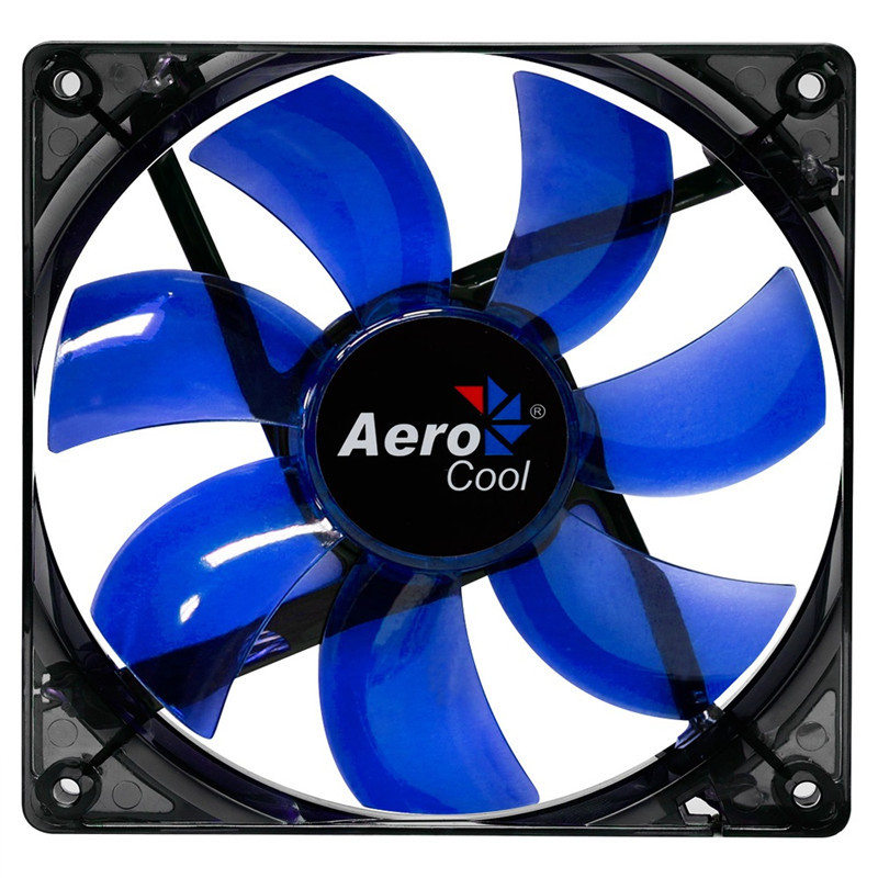 Original Aerocool Lightning 120mm Case Cooling Fan Blue LED Silent PC Gaming Case Fan For Computer PC Case Cooling Free Shipping(China (Mainland))