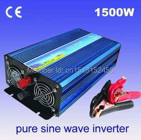 24V 120V Pure Sine Wave 1500W Inverter, Wind Generator Solar Inverter Off Grid(China (Mainland))