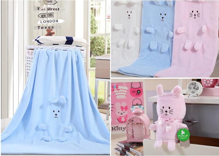 Baby Blanket with toys baby soft thick fleece blanket Swaddle Spain market wholesale fleece cartoon baby blanket(China (Mainland))