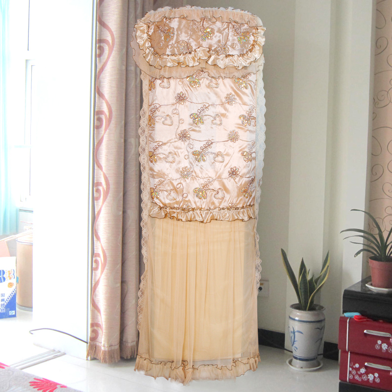 The brasen rustic fabric lace all-inclusive packaged air conditioning cover air conditioning units dust cover(China (Mainland))