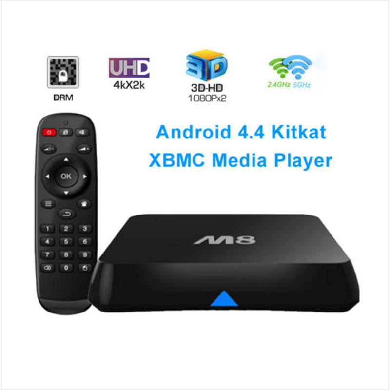 New M8 Android TV Box Amlogic S802 Quad Core 2G/8G 4K WiFi movie Receiver Media Player For IPTV Smart TV Mini PC Free shipping<br><br>Aliexpress