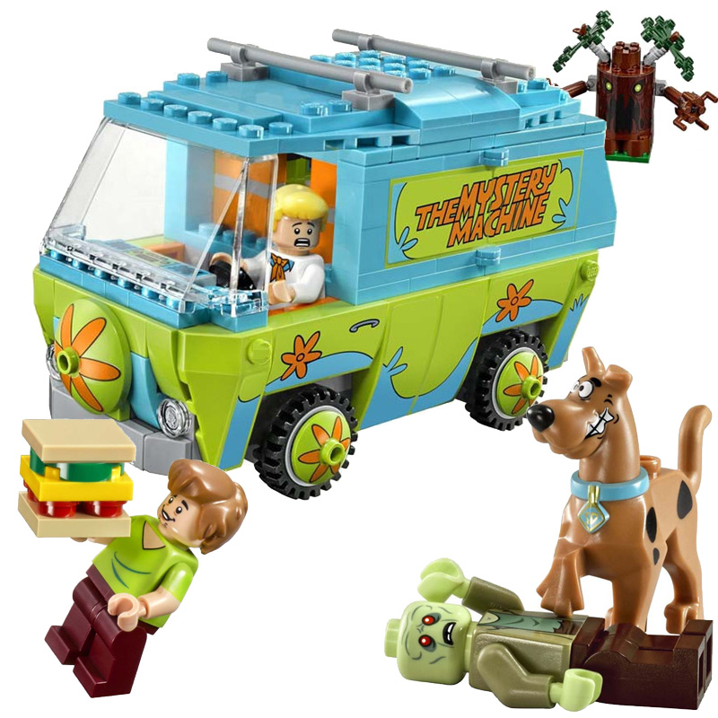 Bela Scooby Doo Mystery Machine Bus figures Building Block figures Toys Compatible With mye(China (Mainland))