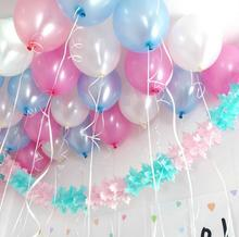 10pcs 10inch White latex balloon Helium air balls inflatable wedding party decoration kid birthday Float Multicolor balloons(China (Mainland))