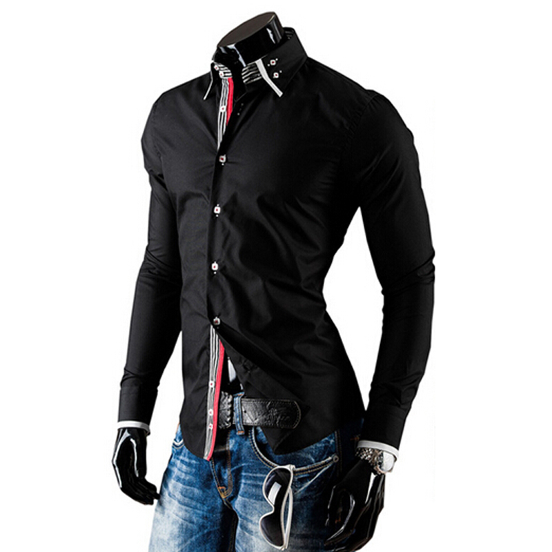 2015 hot sale men male shirts casual fashion slim stylish for Mens business shirts sale