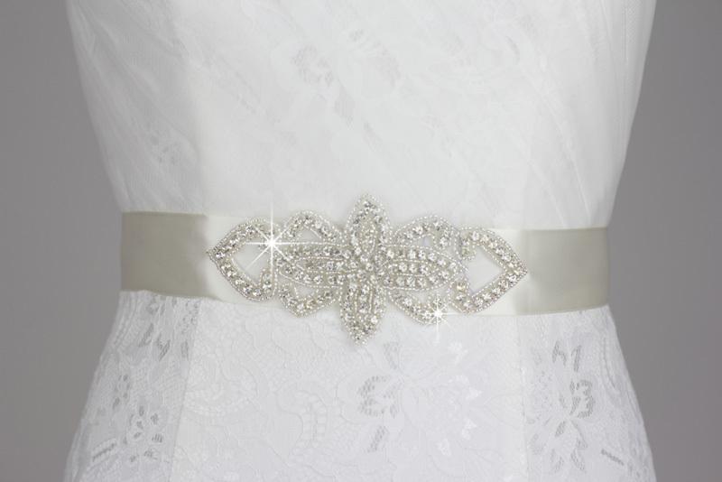 Handmade top level bridal belt shiny czech diamond belt for Pearl belt for wedding dress