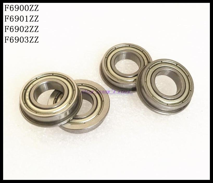 10pcs/Lot F6901ZZ F6901 ZZ 12x24x6mm Flange Thin Wall Deep Groove Ball Bearing Brand New