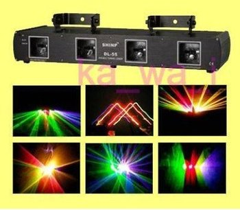 Pro 4 Lens RGPY DJ Laser Stage Light DMX FOR Xmas Party