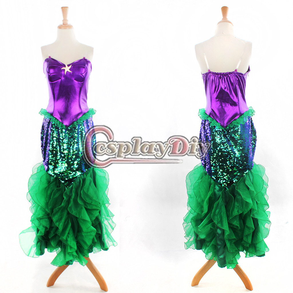 free shipping custom made the little mermaid ariel princess dress adult women plus size a in. Black Bedroom Furniture Sets. Home Design Ideas