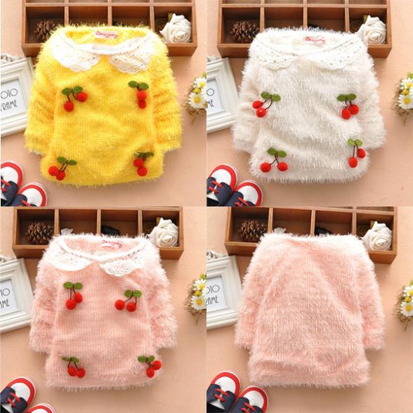 Hot Selling Toddler Kids Girls Long Sleeve Basic TEE Shirt Tops Sweater Pullover SZ 1-5T(China (Mainland))