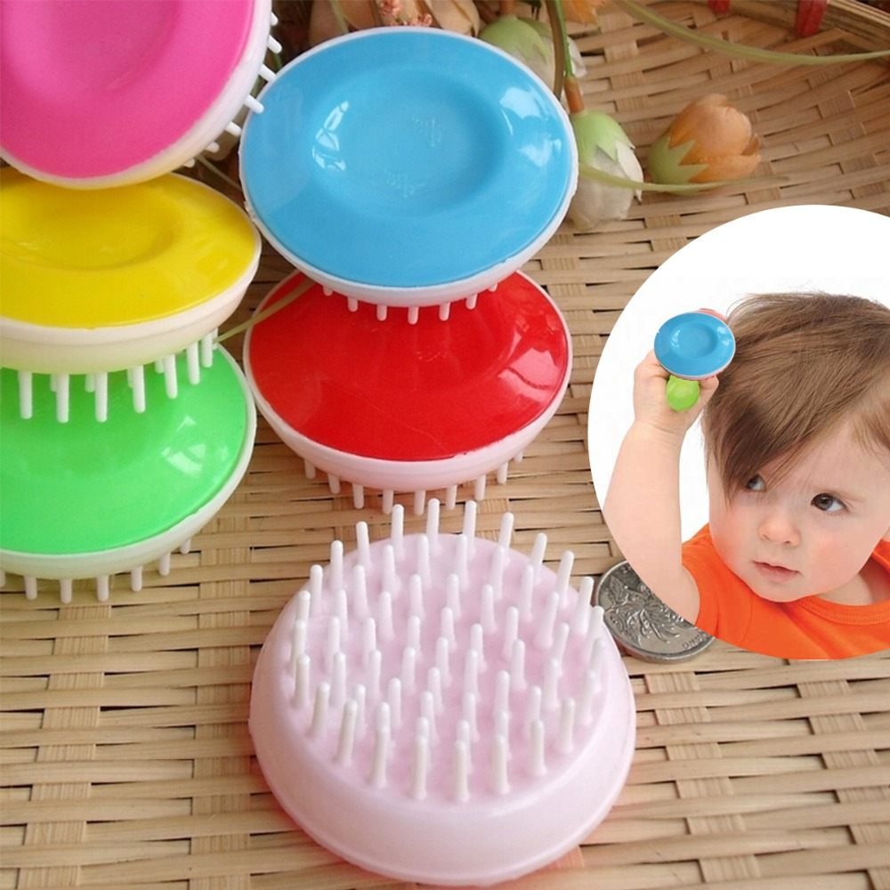 new 2016 soft baby hair brush hair combs pp wool comb set new baby care products safety baby brush and comb(China (Mainland))